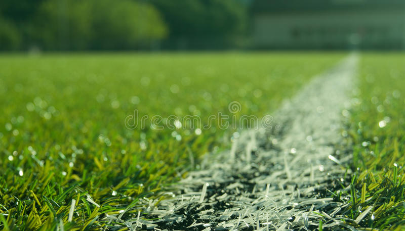 Blury fotbollfält royaltyfria bilder
