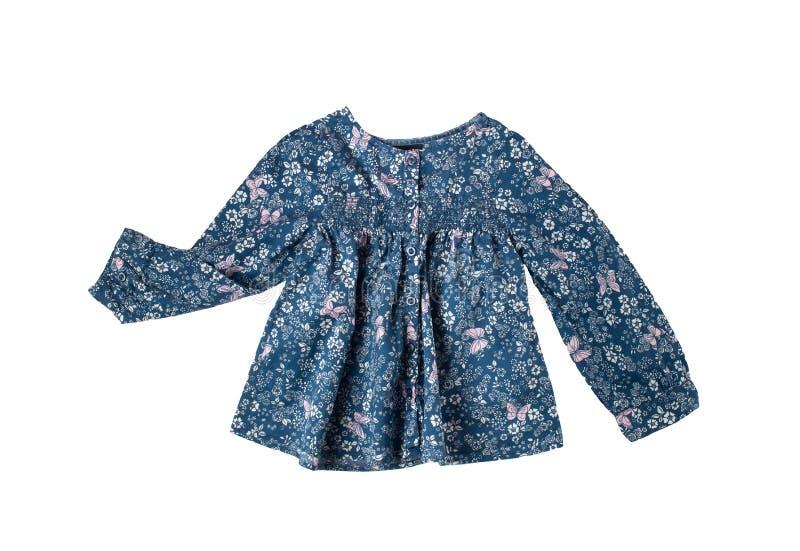Blusa de la niña en el fondo blanco foto de archivo