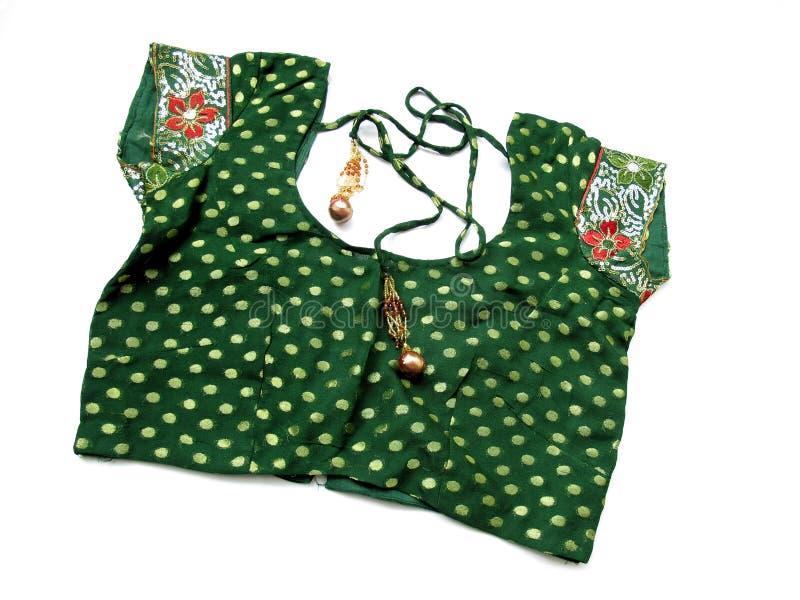 Blusa de la sari imágenes de archivo libres de regalías