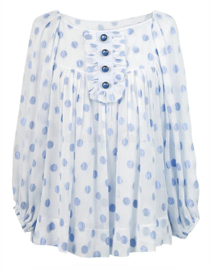 Blusa de seda azul foto de archivo