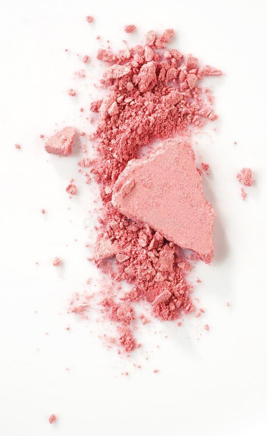 Blush. Pink blush over white background stock photo
