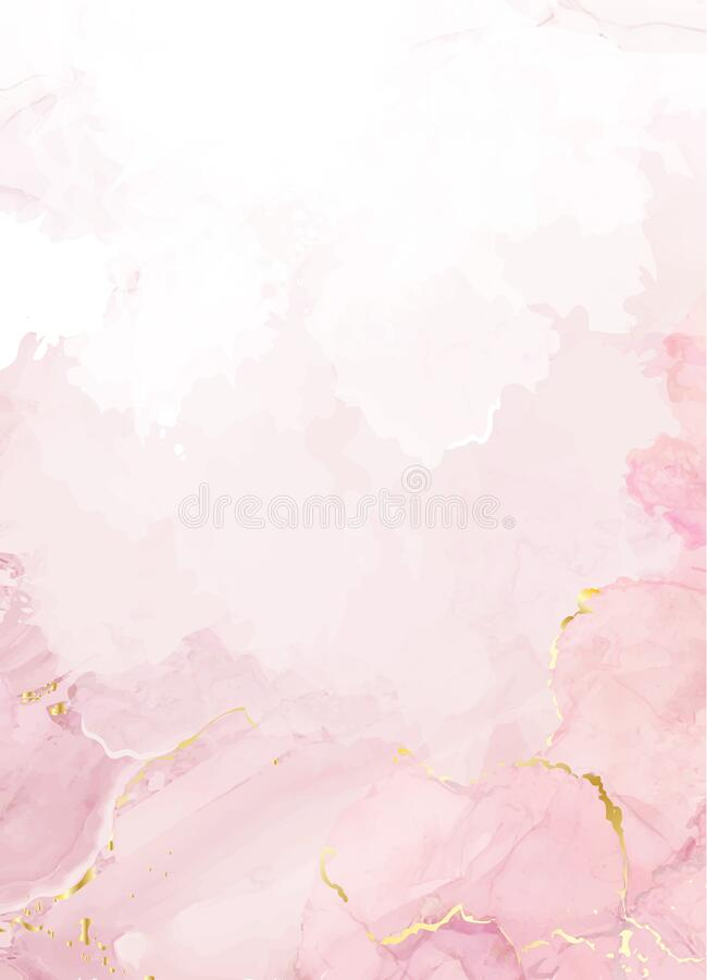 Free Blush Pink Watercolor Fluid Painting Vector Design Card Royalty Free Stock Images - 171856359