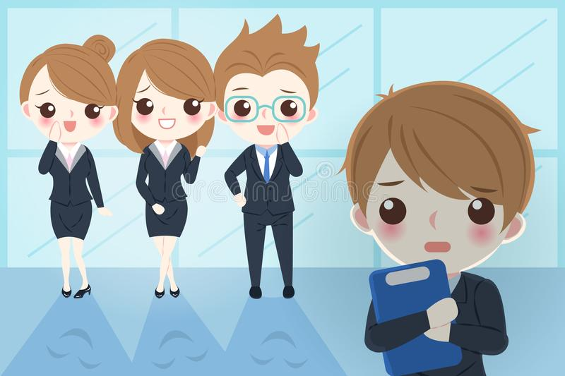 Blusinessman with bullying concept. Blusiness man with bullying concept in the office vector illustration