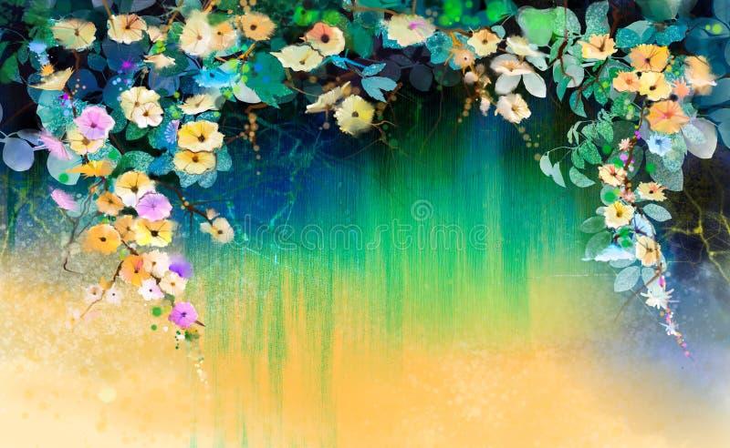 Bluszcz kwitnie akwarela obraz ilustracji