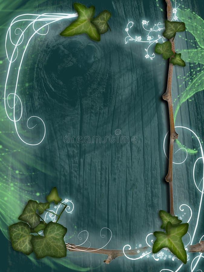 bluszcza ramowy pergamin ilustracji