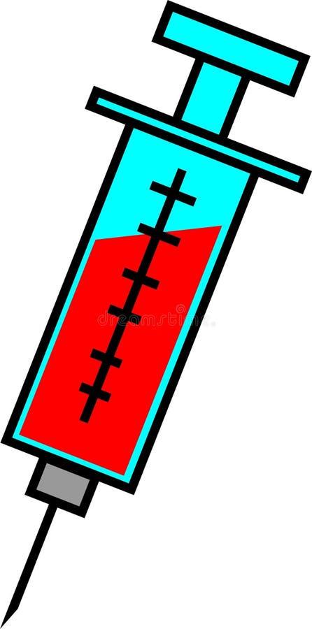 Blut-abgehobener Betrag stock abbildung
