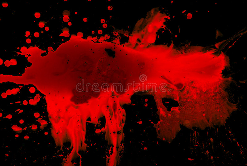 Blut auf Schwarzem lizenzfreie stockfotografie