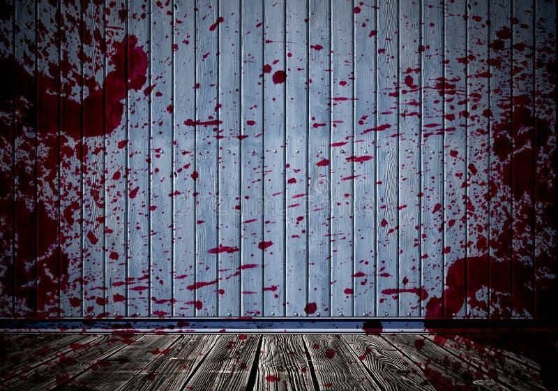 Blut auf Wand, abstrakter Rauminnenraum lizenzfreies stockbild