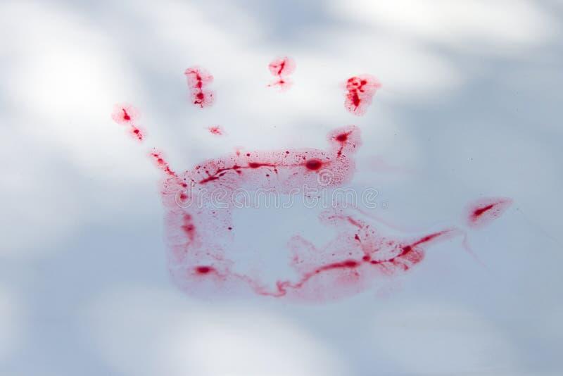 Blut der Hand lizenzfreie stockbilder