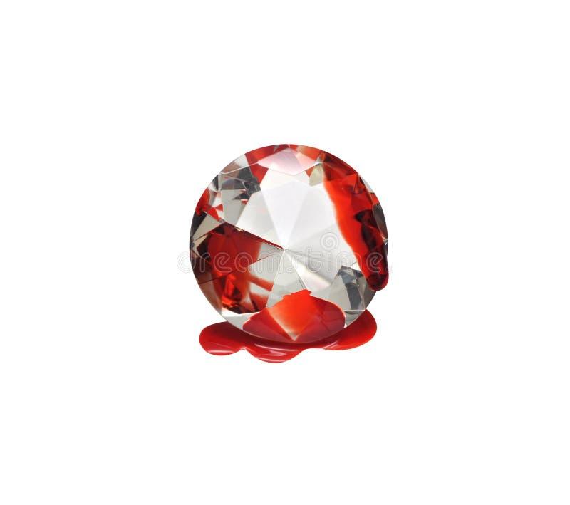 Blut-Diamant lizenzfreie stockfotografie