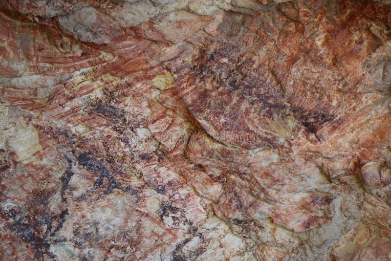 Blut gemalter Stein stockfoto