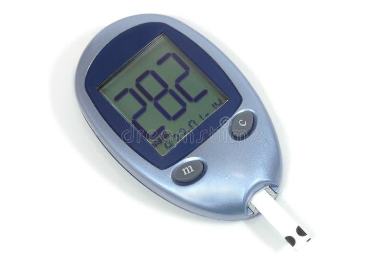 Blut-Glukose-Messinstrument - hohe Resultate stockbilder