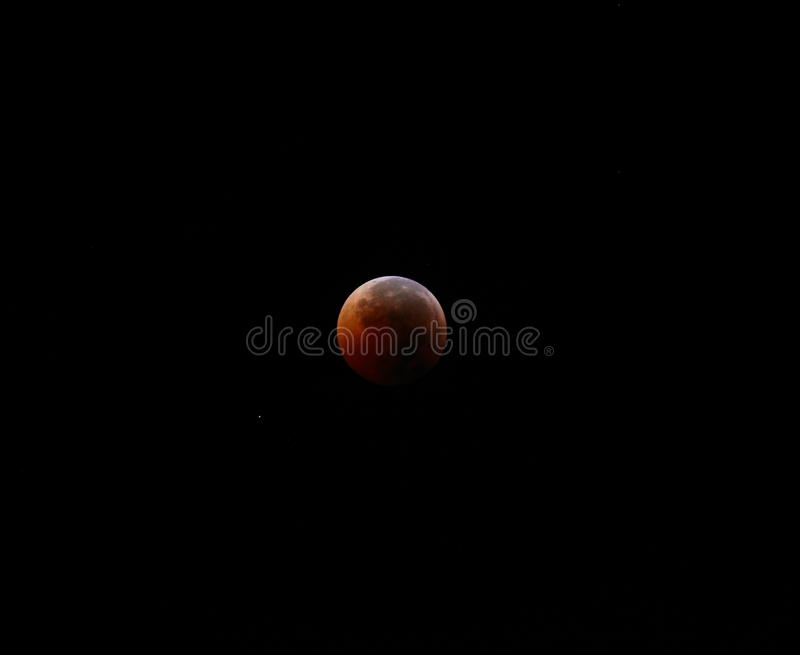 Blut-Mond-Eklipse stockbild