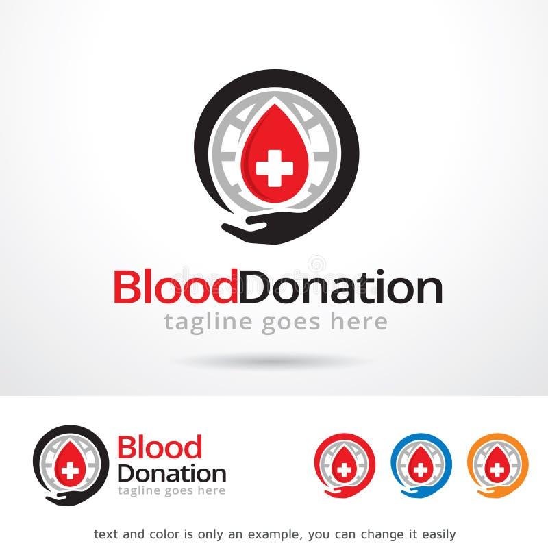 Blut-Spende Logo Template Design Vector lizenzfreie abbildung