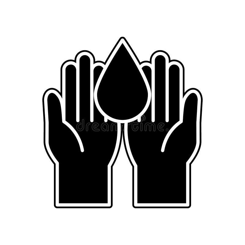 Blut-Spenden-Ikone Element der Blutspende für bewegliches Konzept und Netz Appsikone Glyph, flache Ikone für Websiteentwurf und stock abbildung