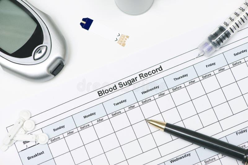 Blut Sugar Record lizenzfreies stockbild