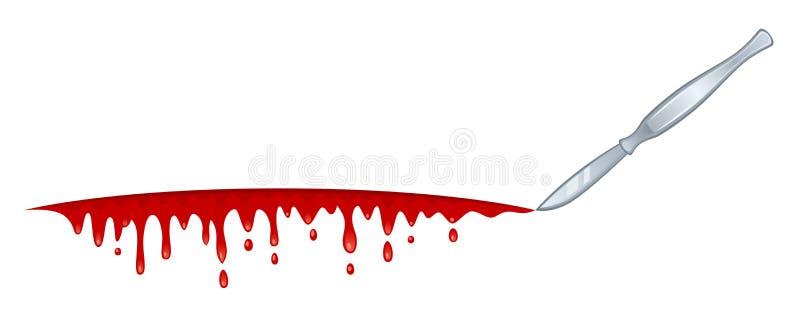 Blutblatt lizenzfreie abbildung