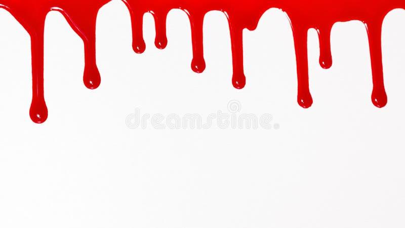 Blutbratenfett auf weißem Hintergrund stockbild