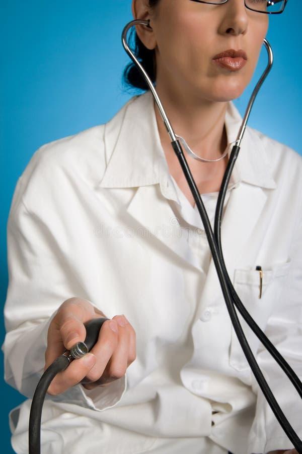 Blutdruck-Check stockbilder
