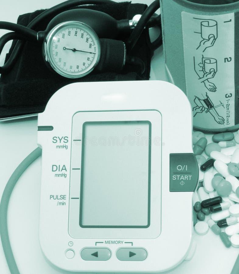Blutdruckeinheiten lizenzfreies stockfoto