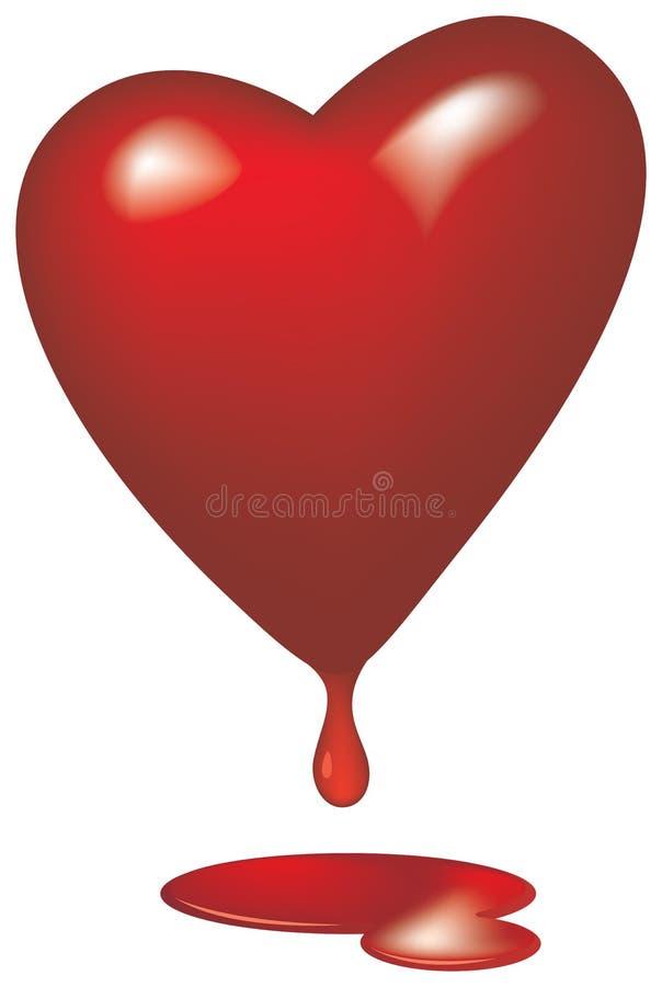Blutendes Herz glasig vektor abbildung