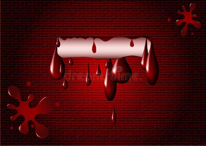 Blutfleck auf der Wand lizenzfreie abbildung