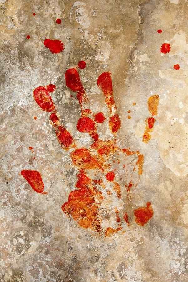Bluthand auf grunge stockfotografie