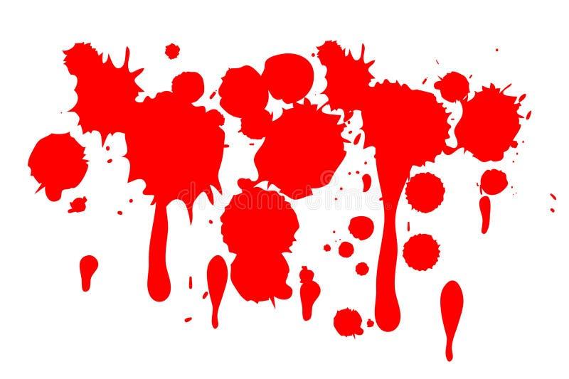 Blutig auf Weiß vektor abbildung
