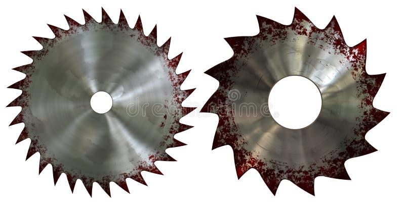 Blutig Sägeblatt vektor abbildung