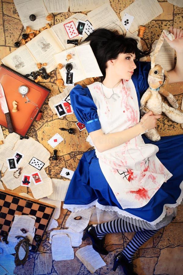 Blutige Alice lizenzfreie stockfotografie