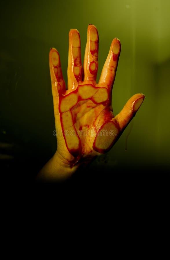 Blutige Hand stockbilder