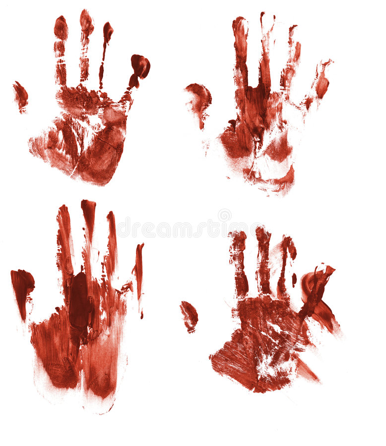 Blutige handprints stock abbildung