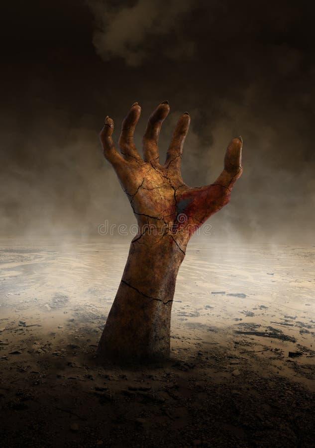 Blutige schlechte Monster-Hand, Gefahr stock abbildung