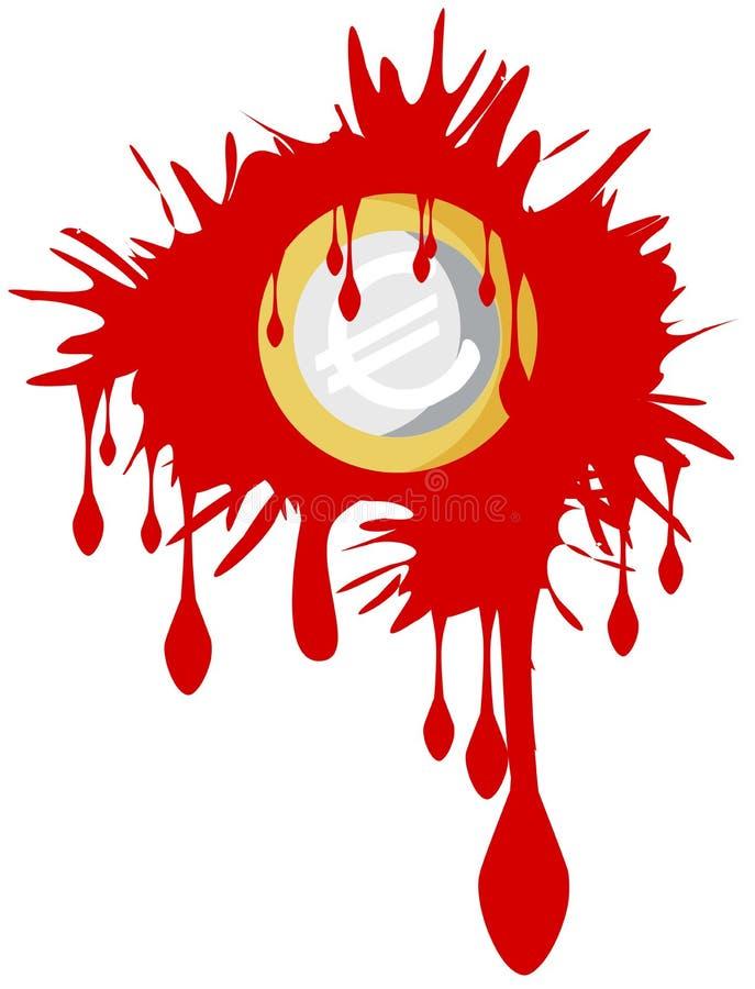 Blutiger Euro vektor abbildung