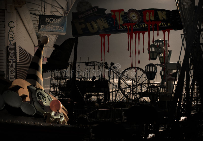 Blutiger Karneval lizenzfreie abbildung