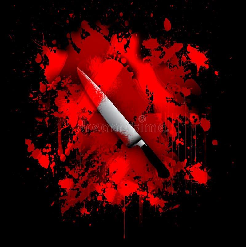 Blutiger Messerzusammenfassungshintergrund lizenzfreie abbildung