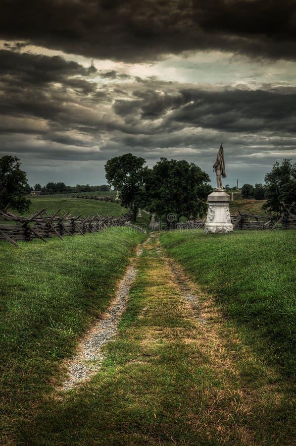 Blutiger Weg - nationales Schlachtfeld Antietam, Sharpsburg Maryland stockbilder