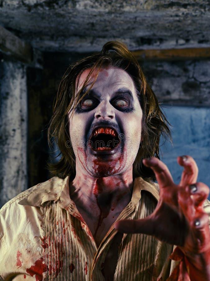 Blutiger Zombie Stockbild