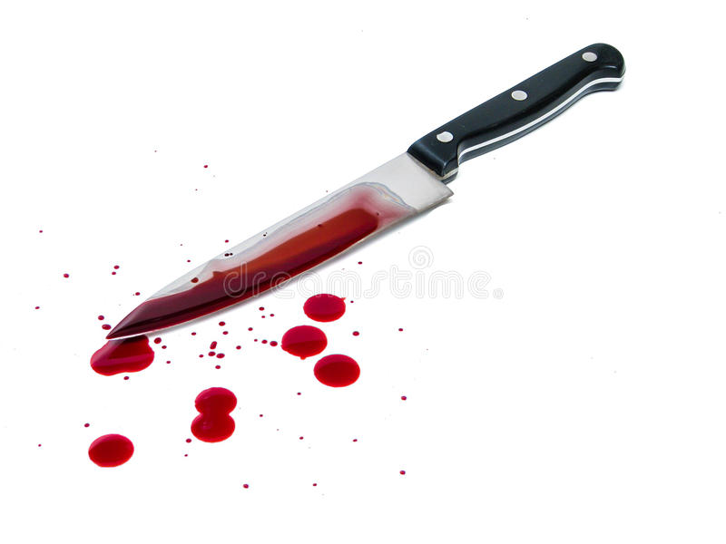 Blutiges Messer stockbilder