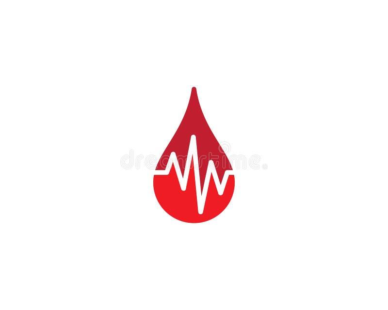 Blutlogoschablone lizenzfreie abbildung