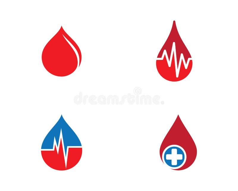 Blutlogoschablonen-Vektorikone lizenzfreie abbildung