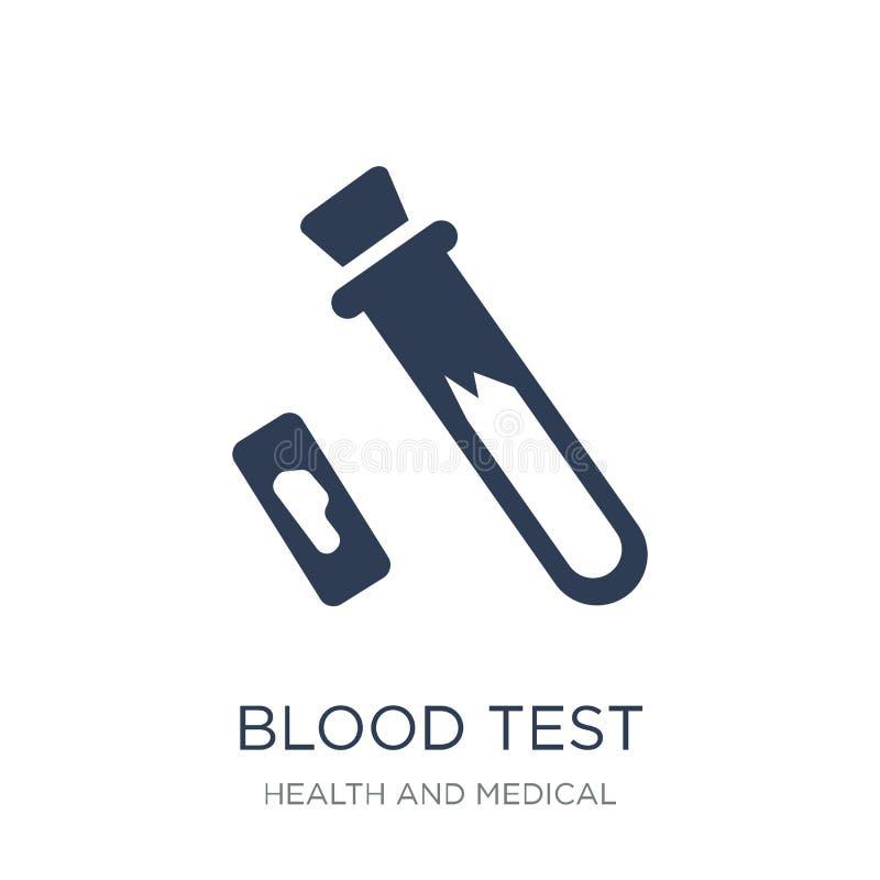 Blutprobeikone Modische flache Vektor Blutprobeikone auf weißem BAC lizenzfreie abbildung