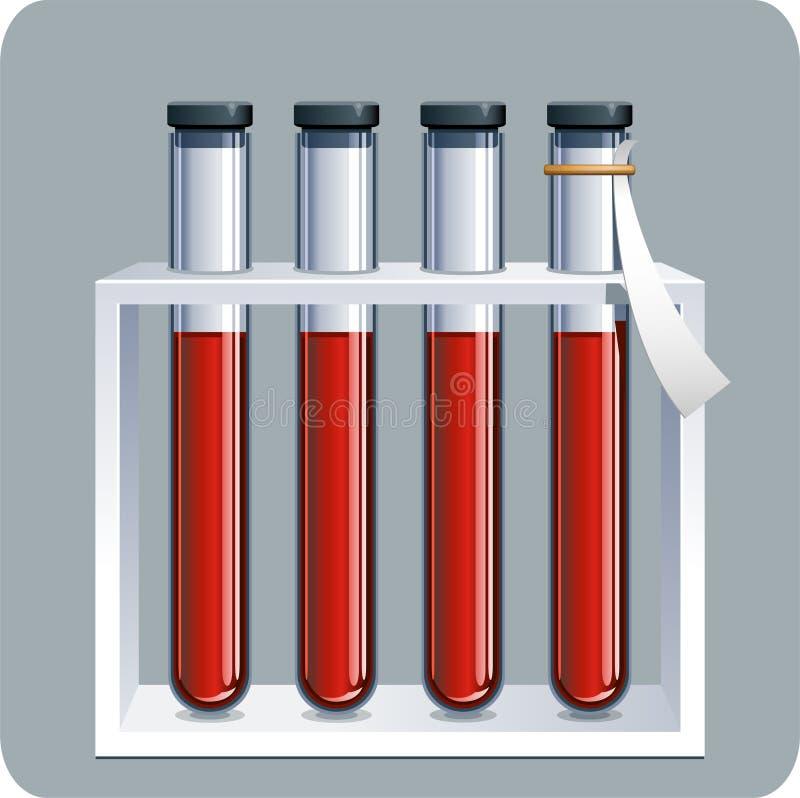 Blutproben lizenzfreie abbildung