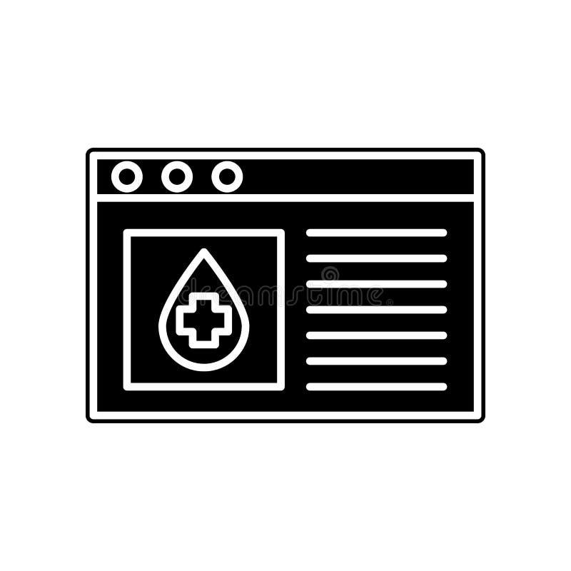 Blutspenden-Standortikone Element der Blutspende für bewegliches Konzept und Netz Appsikone Glyph, flache Ikone für Websiteentwur vektor abbildung