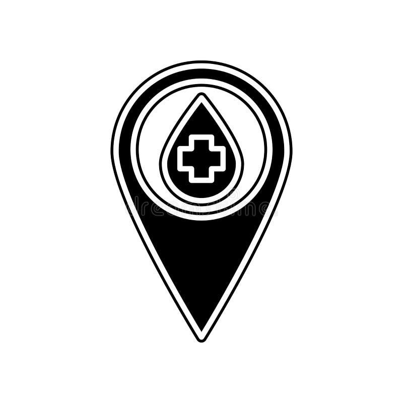 Blutspenden-Stiftikone Element der Blutspende für bewegliches Konzept und Netz Appsikone Glyph, flache Ikone für Websiteentwurf u stock abbildung