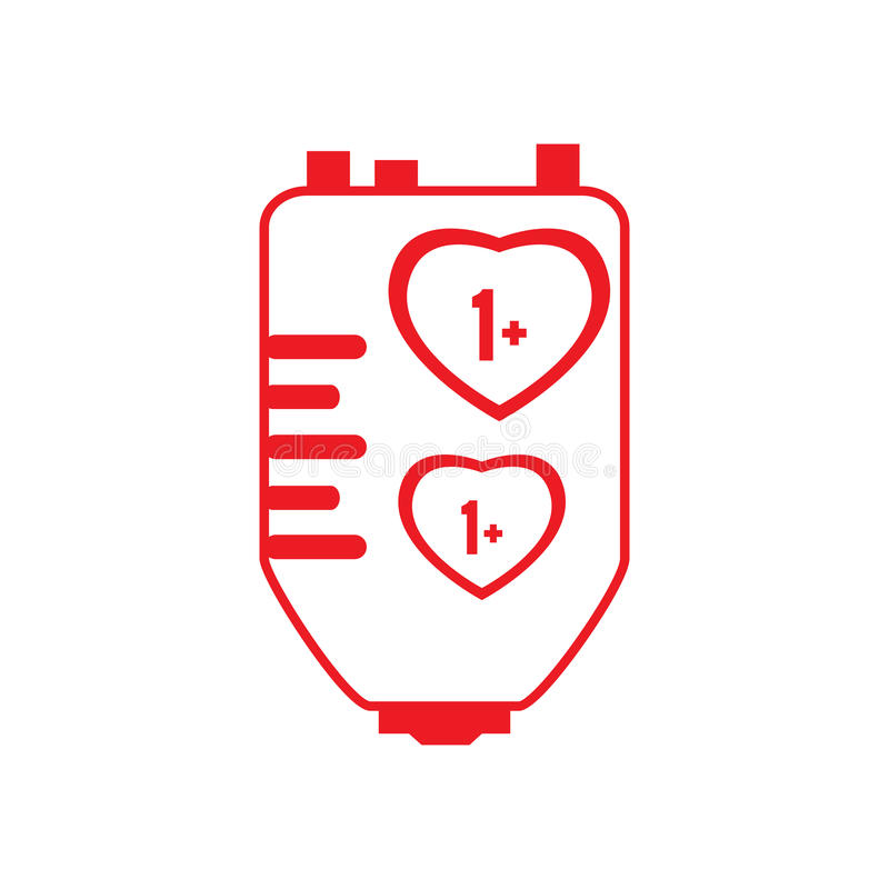 Blutspendenillustration vektor abbildung. Illustration von ...