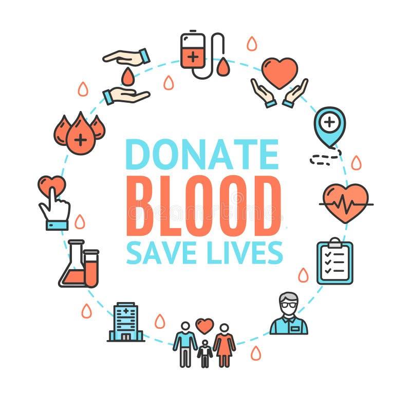 Blutspendenkonzept Vektor lizenzfreie abbildung