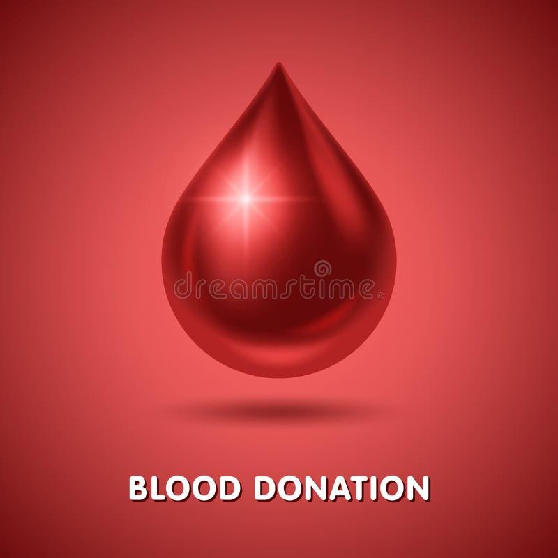Blutspendtag vektor abbildung