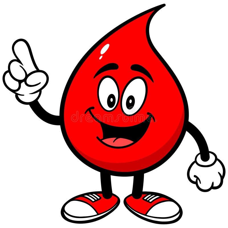Blutstropfen-Unterhaltung lizenzfreie abbildung