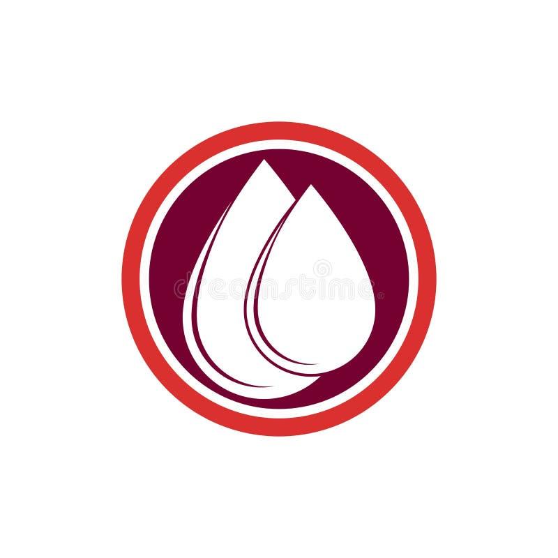 Blutstropfenspendervektorikone stock abbildung